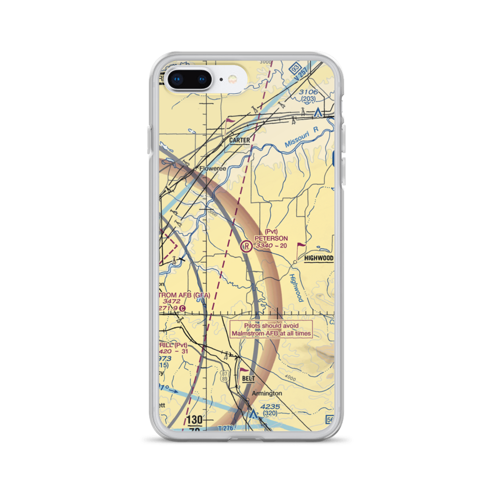 Montana Ranch House By Suyama Peterson Deguchi: Peterson Ranch Airport (MT77) VFR Sectional IPhone Case